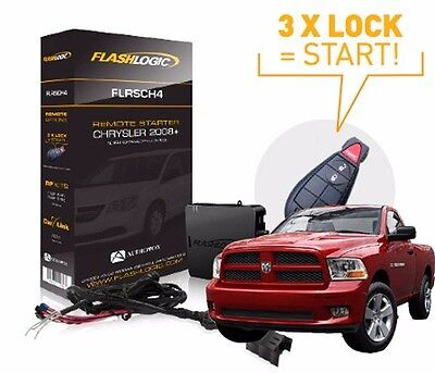 FLASHLOGIC ADD-ON REMOTE START FOR DODGE RAM 1500 2009-2012 EASY INSTALL