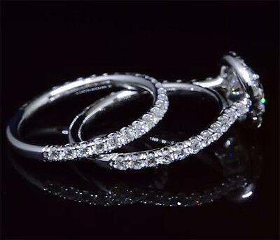 1.80 Ct Round Cut Diamond Halo Engagement Ring Set G,VS2 GIA Certified 14K New 1