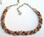 Vintage Topaz Rhinestone Necklace