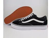 VAN Classic OLD SKOOL Black Low Suede Casual Canvas sneakers SK8 Unisex Shoes Size 4