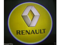2 x 3D RENAULT COB LED DOOR LOGO COURTESY LIGHT LASER GHOST PROJECTOR SHADOW PUDDLE LAMPS