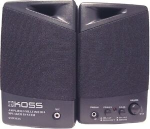 KOSS AMPLIFIED PC SPEAKERS ***BRAND NEW***ON Sale