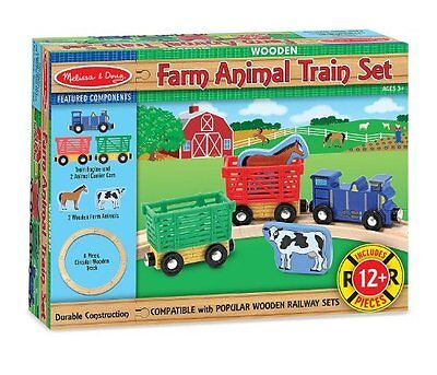 Melissa and Doug Farm Animal Train Set , New, Free Shipping