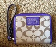 Coach Signature Wallet Purple