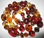Amber Glass Bead Necklace