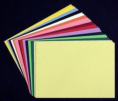30x Kartenkarton-papier Tonkarton A5, 220g, gemischt