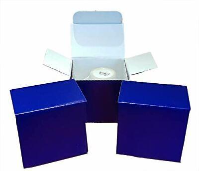 10 X Small Mug Postal Box - 100mm x 100mm x 100mm (Gloss Blue)
