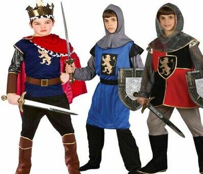 Kinder König Mittelalterlich Ritter Kostüm Kreuzfahrer Kinder Jungen Alter 3-13