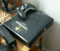 Xbox 360 with 60GB & 20GB hard drives + 2 games + 1 controller