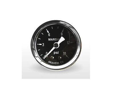 Marshall Gauge 0-15 Psi Fuel / Oil Pressure Gauge Black 1.5