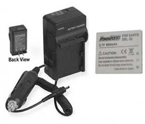 Battery-Charger-for-Sanyo-Xacti-VPC-CG65-VPC-E1-VPCE1