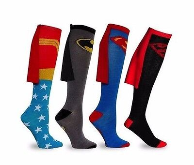 Supergirl Knee High Socks (Batman Superman Cape Socks Knee High Wonder Woman Batgirl Supergirl Superboy)