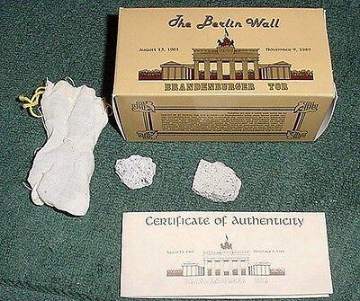 BERLIN WALL A COLLECTIBLE PIECE OF GERMAN HISTORY *COA