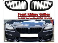 BMW 6 Series Kidney Grills in Gloss Black (M6/650/640, F06/F12/F13) Coupe, Convertible, Gran Coupe