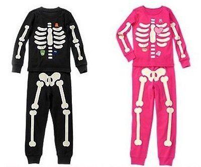 NWT Gymboree SKELETON Halloween Costume 2015 Pajamas - Skeleton Pyjamas Adults