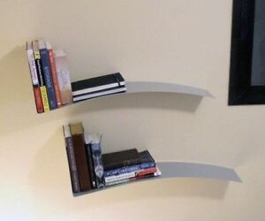 Two Ikea KIRP Book Shelves