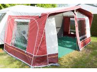 Caravan Awning - Dorema Daytona size 10 in Burgandy Red, virtually as new.