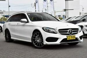 2016 Mercedes-Benz C-Class S205 806+056MY C250 d Estate 7G-Tronic + White 7 Speed Sports Automatic