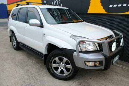 2007 Toyota Landcruiser Prado KDJ120R VX Crystal White Pearl 5 Speed Automatic Wagon Melrose Park Mitcham Area Preview