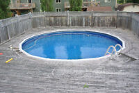 24' Above Ground Pool with Heat Pump