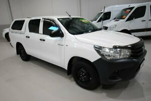 2016 Toyota Hilux TGN121R Workmate Double Cab 4x2 White 6 Speed Sports Automatic Utility Kenwick Gosnells Area Preview