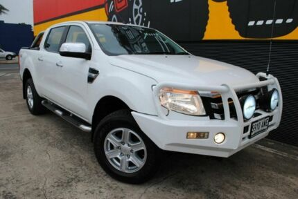 2013 Ford Ranger PX XLT Double Cab Cool White 6 Speed Sports Automatic Utility Melrose Park Mitcham Area Preview