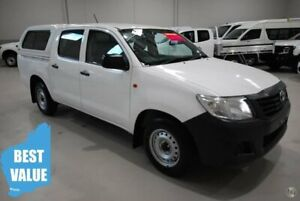 2014 Toyota Hilux TGN16R MY14 Workmate Double Cab 4x2 White 4 Speed Automatic Utility Kenwick Gosnells Area Preview
