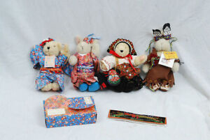 Vintage Muffybear bears and rabbits, in delightful costumes