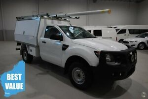 2014 Ford Ranger PX XL White 6 Speed Manual Cab Chassis Kenwick Gosnells Area Preview