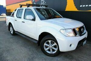 2012 Nissan Navara D40 S6 MY12 ST Arctic White 6 Speed Manual Utility Melrose Park Mitcham Area Preview