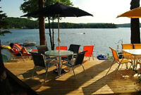 Sandy beach and sunset ** Lac Simon cottage for rent**