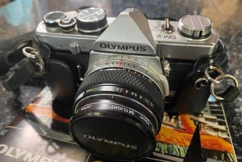 Olympus OM-2, 35 mm SLR Camera with accessaries