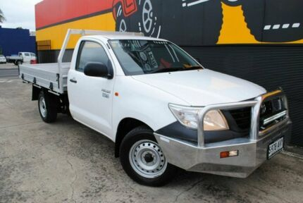 2013 Toyota Hilux TGN16R MY12 Workmate 4x2 Super White 5 Speed Manual Cab Chassis Melrose Park Mitcham Area Preview