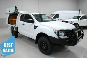 2011 Ford Ranger PX XL Super Cab White 6 Speed Manual Cab Chassis Kenwick Gosnells Area Preview