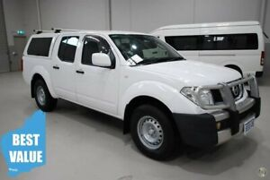 2013 Nissan Navara D40 S7 MY12 RX White 5 Speed Automatic Utility Kenwick Gosnells Area Preview