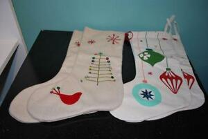NEW, unused Christmas stockings Two Different Styles