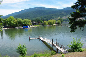 Waterfront Home with Dock where Sicamous Channel Meets Mara Lake