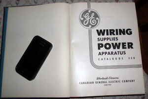 GE WIRING SUPPLIES POWERED APPARATUS 1952 catalog