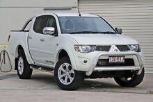 2014 Mitsubishi Triton MN MY15 GLX-R Double Cab White 5 Speed Manual Utility Hillcrest Logan Area Preview