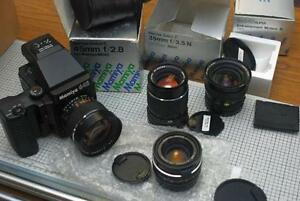 Mamiya 645 Super with Motor Drive 35mm 45mm lenses
