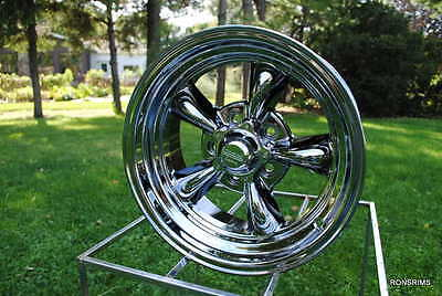 "15x4 ""AMERICAN RACING TORQ THRUST CHROME 5 ON 4.5 BOLT PATTERN FORD WHEEL"