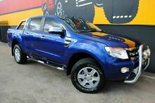 2012 Ford Ranger PX XLT Double Cab Aurora Blue 6 Speed Sports Automatic Utility Melrose Park Mitcham Area Preview