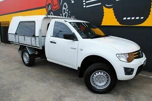 2012 Mitsubishi Triton MN MY12 GLX Pure White 4 Speed Automatic Cab Chassis Melrose Park Mitcham Area Preview