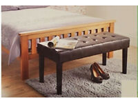 BRAND NEW LEATHER FAUX BENCHES WITH BUTTON DETAIL