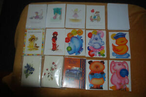 Large lot of 75 Brand New Greeting Cards with enveloppes
