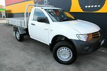 2012 Mitsubishi Triton MN MY12 GL White 5 Speed Manual Cab Chassis Melrose Park Mitcham Area Preview