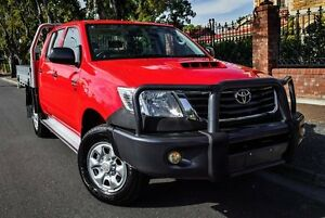 2013 Toyota Hilux KUN26R MY12 SR Xtra Cab Red 5 Speed Manual Utility Medindie Walkerville Area Preview