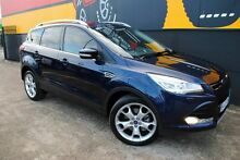 2013 Ford Kuga TF Titanium PwrShift AWD Ink Blue 6 Speed Sports Automatic Dual Clutch Wagon Melrose Park Mitcham Area Preview