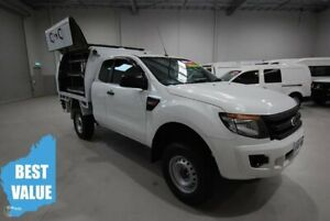 2015 Ford Ranger PX XL Super Cab 4x2 Hi-Rider White 6 Speed Sports Automatic Cab Chassis Kenwick Gosnells Area Preview
