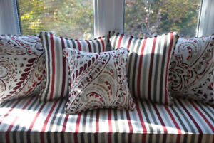 Custom Throw Pillows and Bench Covers